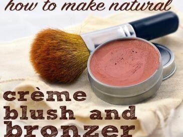 How to make natural creme brush and bronzer from skin improving ingredients 365x274 Homemade Natural Creme Blush Recipe