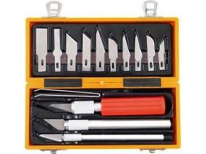 Nože na vyřezávání, sada 14ks, v ABS plast. krabici