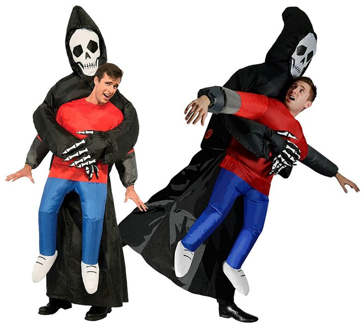 This double-take-inducing 3D inflatable Halloween costume creates the illusion that you are seemingly get abducted by the Grim Reaper Death himself.