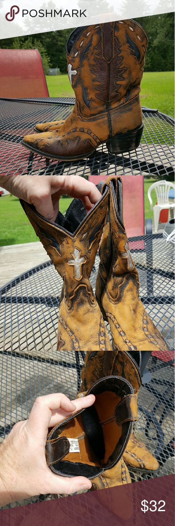 HP Little boys cowboy boots Dan Post, pointy toe, cowboy boots. These are too cool! Dan Post Shoes Boots