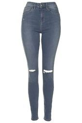 MOTO Smokey Grey Ripped Jamie Jeans