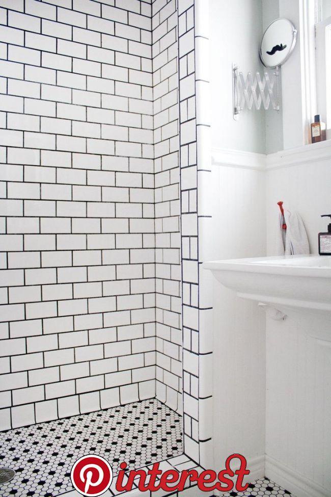 Renovieren Deko Ideen In 2020 Shower Floor Black Grout