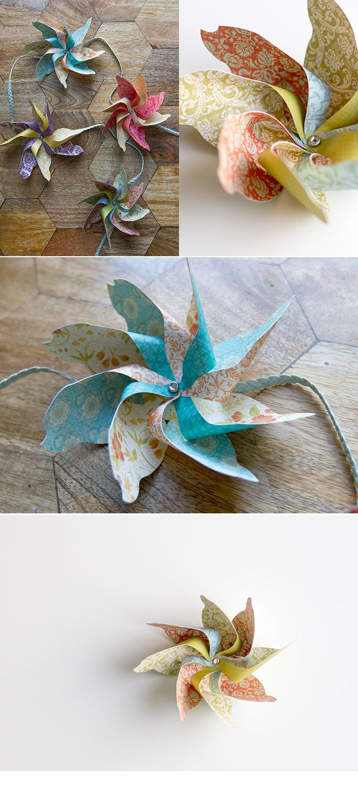 DIY pinwheel FREE template - AndreasNotebook.com