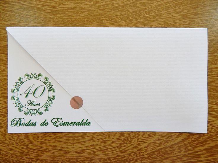 CONVITE IBIZA BODAS DE ESMERALDAS | PAPELAC PAPELARIA - CONVITES | Elo7