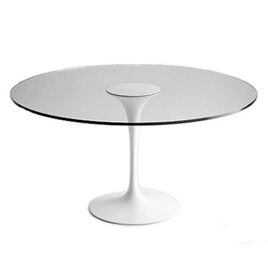 Saarinen Dining Table with Glass Top Image  produced exclusively by #matrixinternational