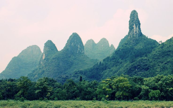 China The Guilin Mountains