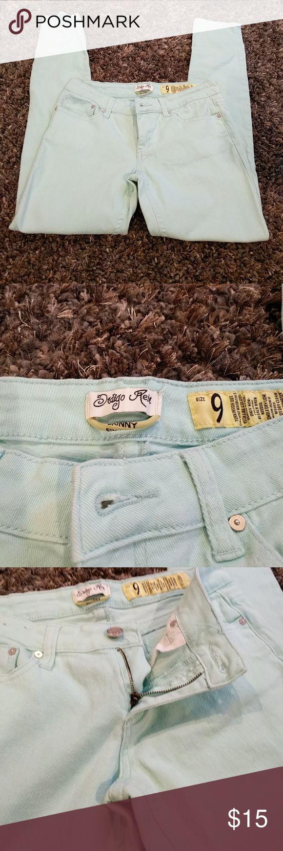 Indigo Rein Mint Green Jeans Size 9 Indigo Rein Mint Green Jeans Size 9, stretchy, skinny jeans. Indigo Rein Jeans Skinny
