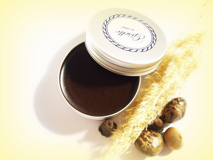 Ginger-Chocolate Lip balm / Main ingredients: 98% chocolate, cocoa butter, beeswax, ginger, essential oils / 100% organic product / Giselle et Vous.