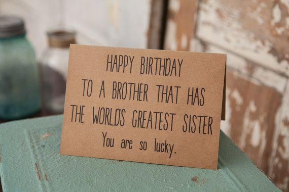 SCHEDA di compleanno del fratello divertenti di TheFarmhouseCharm