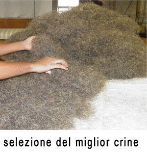 crine di cavallo per materassi e cuscini