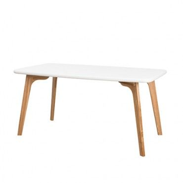Oslo Dining Table - White - Milan Direct