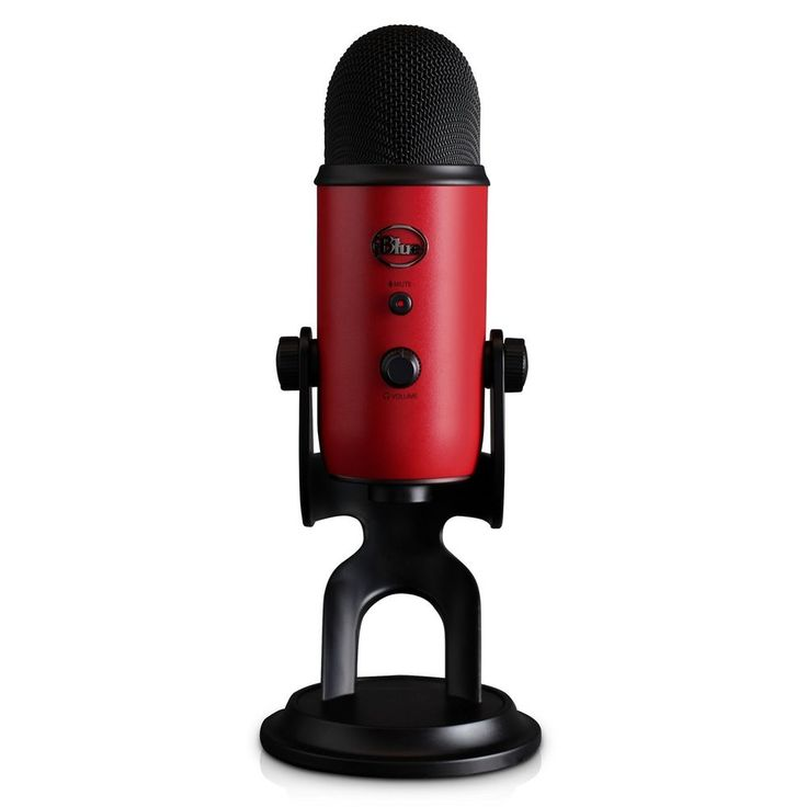 Blue Yeti USB Microphone - Satin Red Home  #Blue