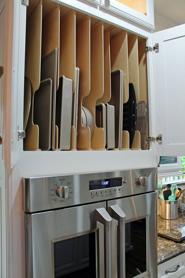 Divide all of your cooking pans out with Wellborn Cabinet, Inc.'s Oven Tray Dividers. @tukasacreations