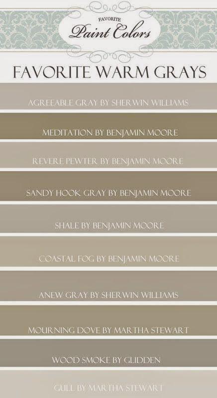 kensington bliss: Favorite Gray/Brown/Taupe Paint Colors...