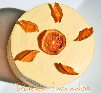 Tarta de naranja con corazon de chocolate
