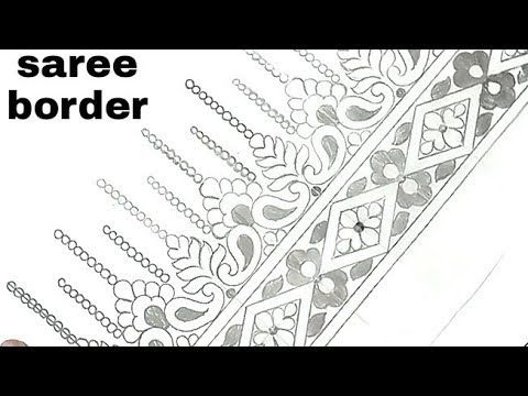Youtube Shafiq Border Design Saree Border Embroidery