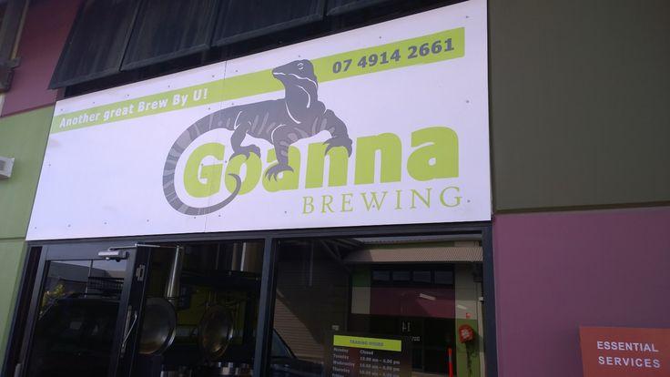 Welcome to Goanna Brewing! www.goannabrewing.com.au (sign designed by @saratheinkling Inkling About Design)