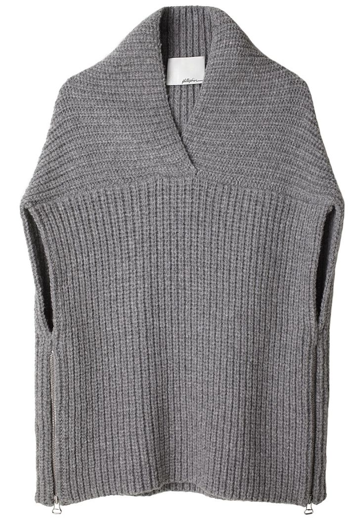 Phillip Lim Shawl Sweater Vest. Interesting construction