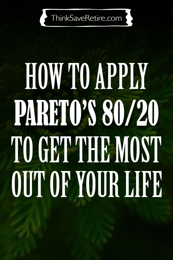 How to 80/20 the hell out of your life - the Pareto Principle. This article explains how to get 80% of what you want by only doing 20% of the work. Crazy!
