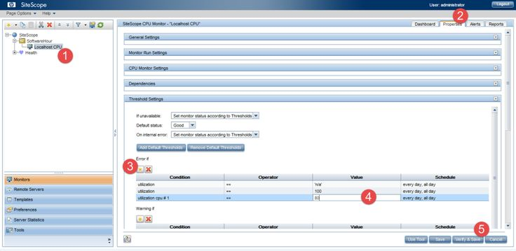 SiteScope Properties Setup