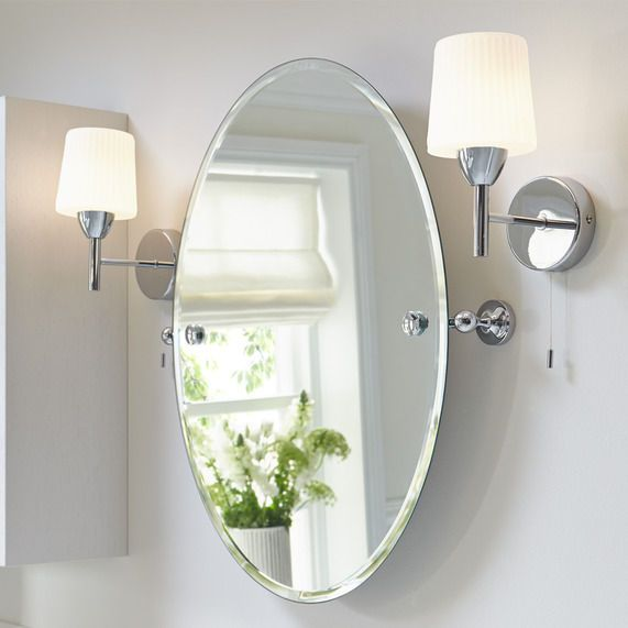 Savoy tilting oval mirror | bathstore