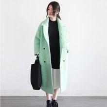 Johnature Kadınlar Yün Palto 3 Renk Gevşek Tatlı 2016 Kış yeni Kore Moda Kalınlaştırmak Sıcak X-Uzun Palto Mori Kız Kısa karışımları(China (Mainland))