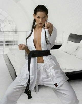 Sexy karate outfit, movie pacific topless