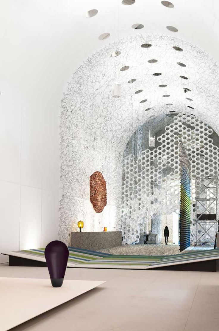 textile vault welcoming visitors by studio bouroullec