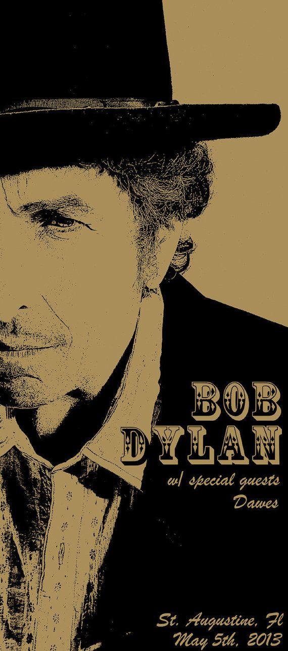 Bob Dylan Poster / Cinco de Mayo 2013 / St by MusicPAPERLove, $50.00