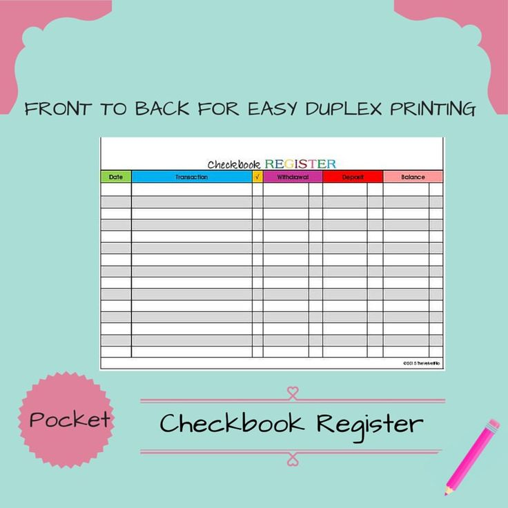 The 25+ Best Checkbook Register Ideas On Pinterest | Check