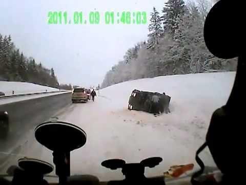 Speeding Driver Flips The Car Upside Down