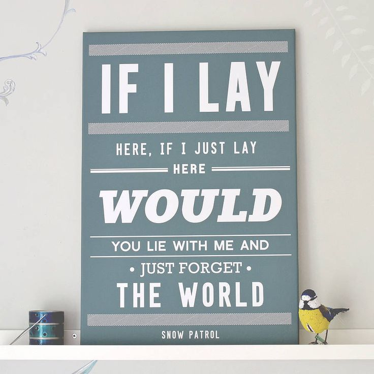 'chasing cars' snow patrol print by oakdene designs | notonthehighstreet.com this was my first dance song at our wedding....definitely having this print