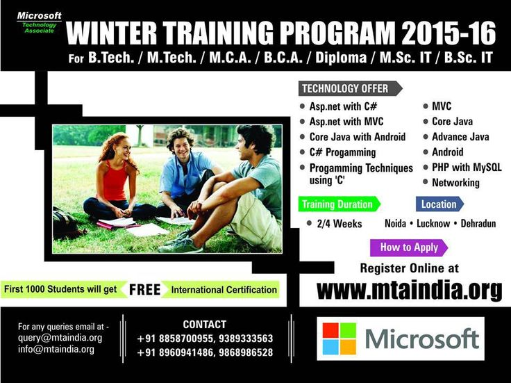MTA India offers best Microsoft Winter Training program with MTA Certification. Visit here for complete information.