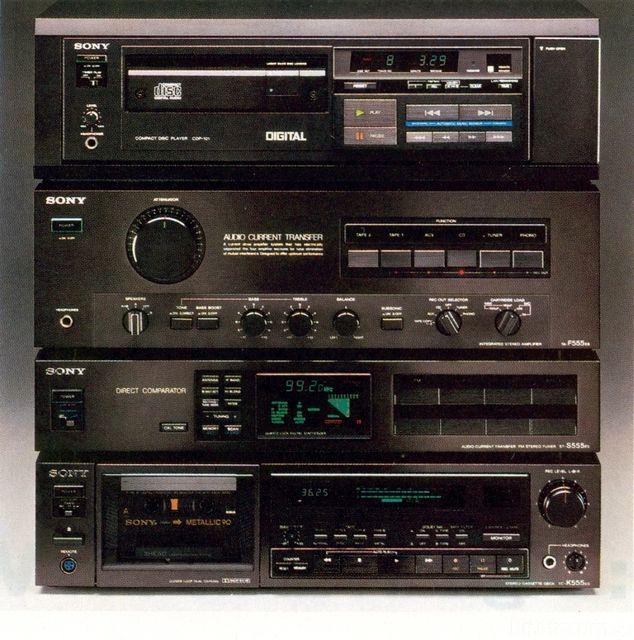 Early 1980 S Vintage Sony Es Vintage Sony Es Hifi