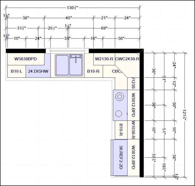 L Shaped Kitchen Layout Dimensions L Shape Kitchen Layout