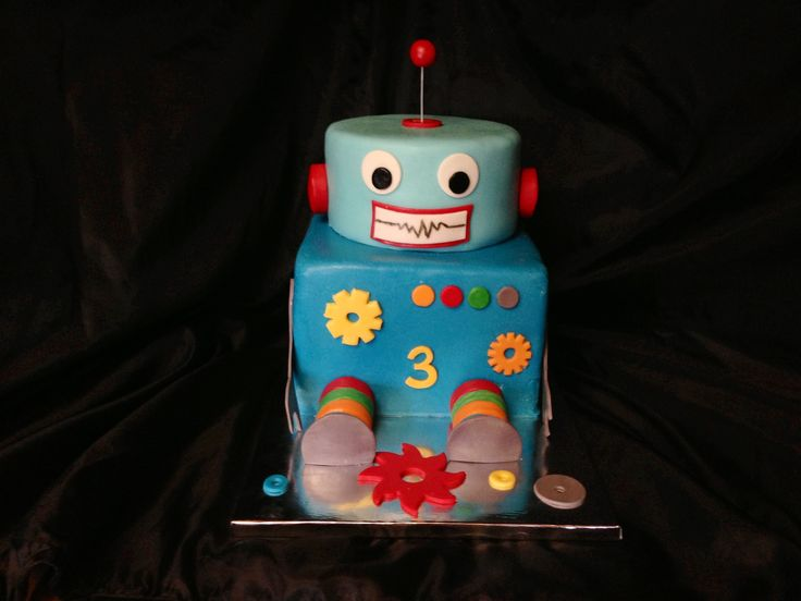 17 Best images about Robot cakes on Pinterest Baby bot ...