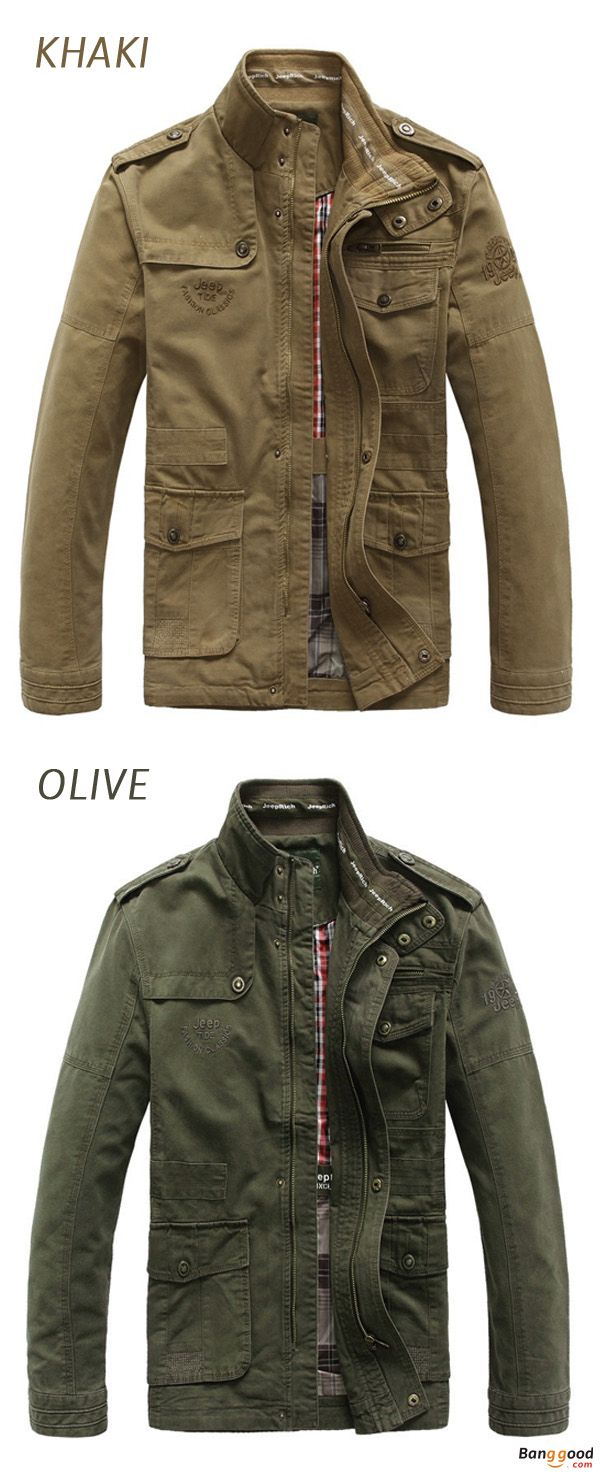 US$69.99 + Free Shipping. Men Coat, Men Jacket, Outdoor Clothing, Autumn Jacket, Cotton Jacket, Warm Coat, Jacket Outwear. Size: S to 5XL. Color: Khaki, Black, Army Green. Autumn Is Coming, Get Prepared!