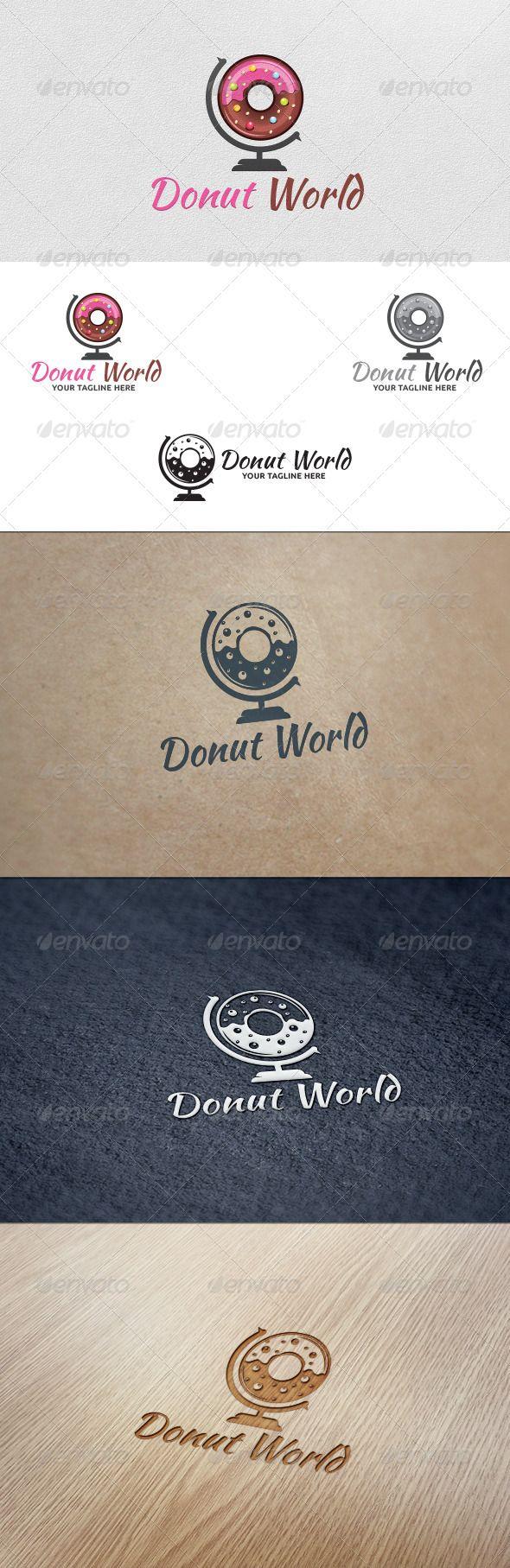 Donut World - Logo Template