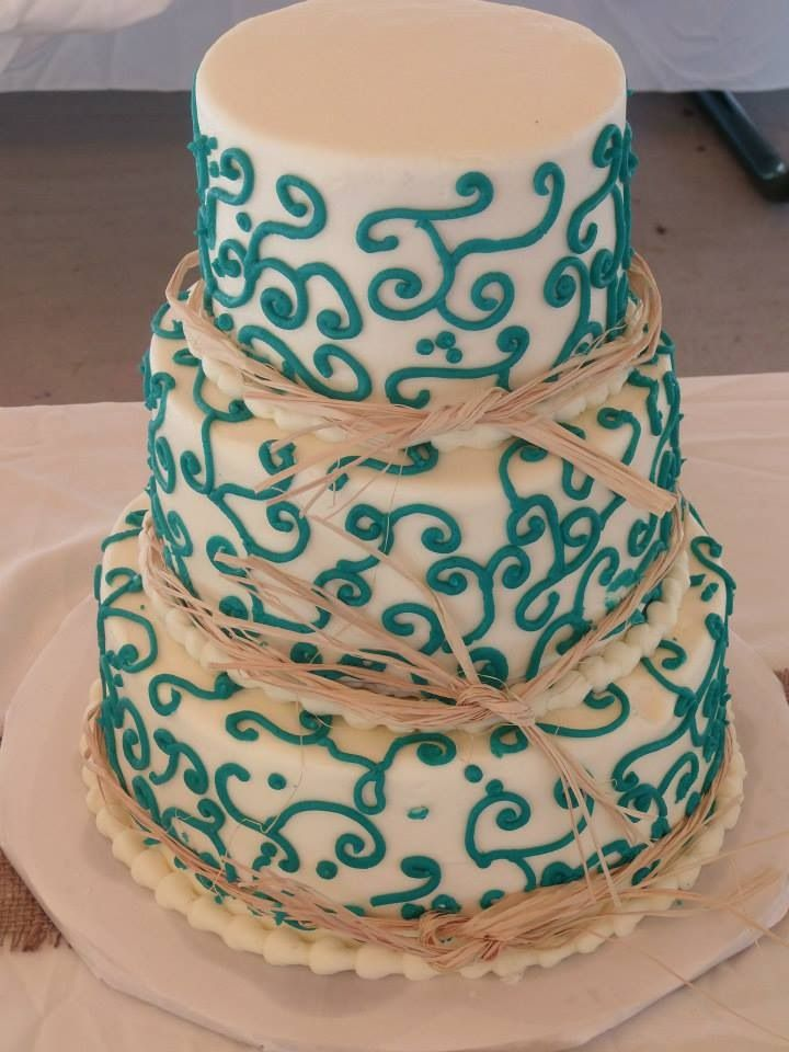 Small country wedding cake.