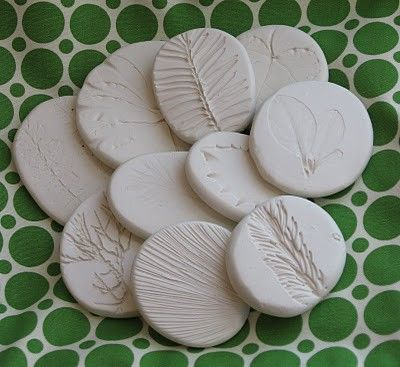 great nature crafts. salt dough and press plants etc