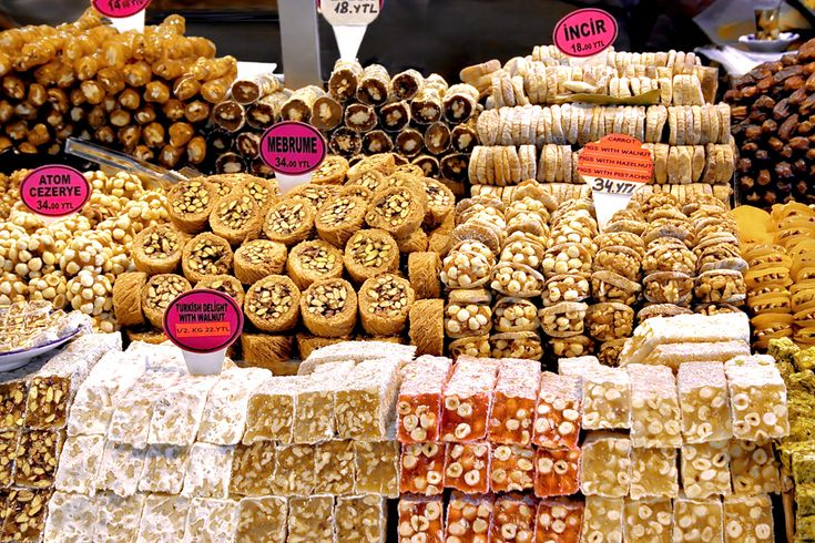 Yalikavak Market Turkish Delight & Pastries Bodrum Peninsula Turkey