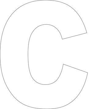 Free Printable Lower Case Alphabet Template: Free Printable 'c' Template