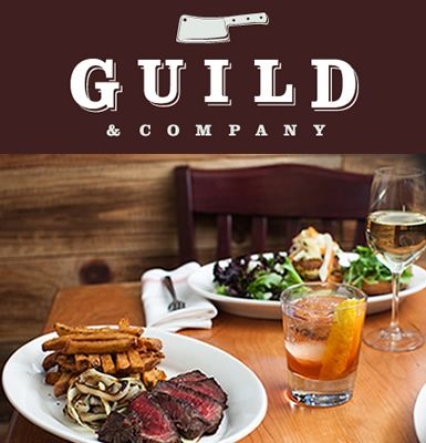 From the creators of The Farmhouse Tap & Grill, Guild & Company features dry aged, locally sourced beef, tavern fare, and innovative cocktails. Chef Phillip Clayton's award winning farm-to-table cuisine serves to honor our local farms and food producers with simple and elegant preparations.