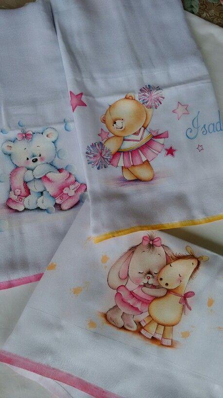 Pintura em tecido para bebês