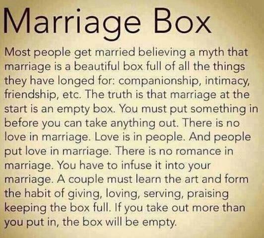 Besy advice on marriage.