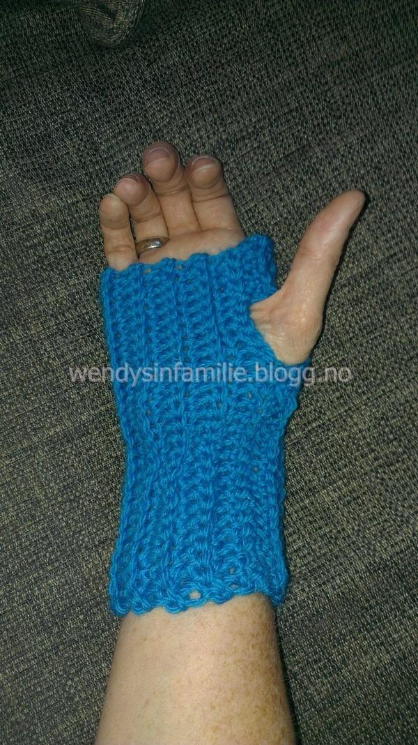 fingerless glows fingerløse hansker crochet hekle