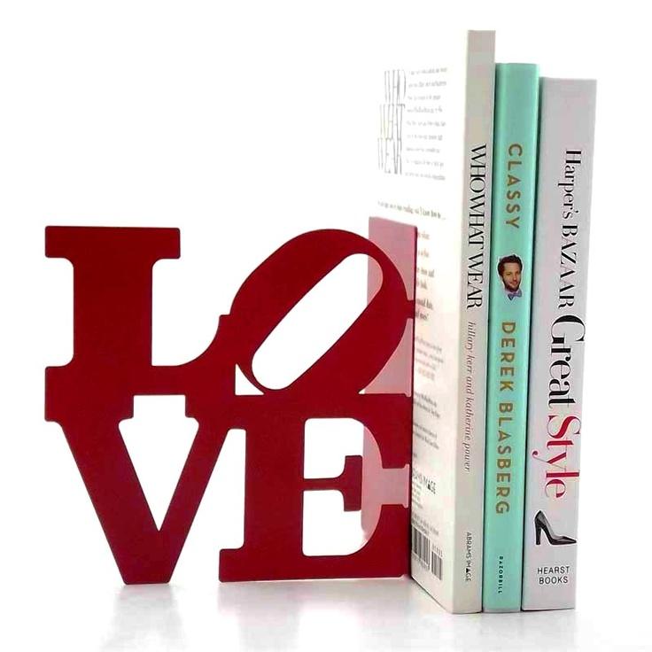 Aparador de livros Love vermelho