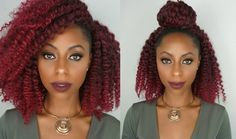 Crochet braids with red hair, PLUS 3 ways to style them!!! [Video] - http://community.blackhairinformation.com/video-gallery/weaves-and-wigs-videos/crochet-braids-red-hair-plus-3-ways-style-video/