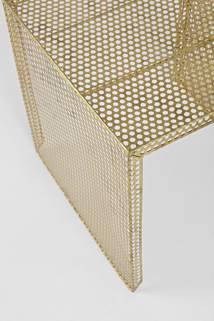 Nested Caged Metal Side Table Urban Outfitters Metal