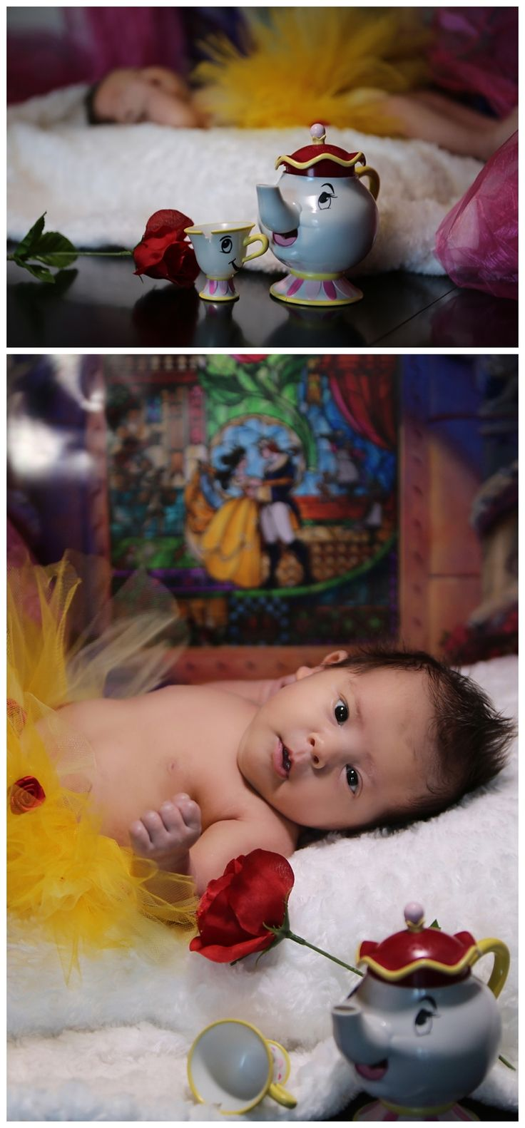 Beauty and the Beast Baby Photography- A Story in Time Photography